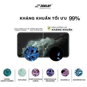 Dán cường lực iPhone 11 Pro ZeeLot kháng khuẩn trong suốt (Thương hiệu Singapore)